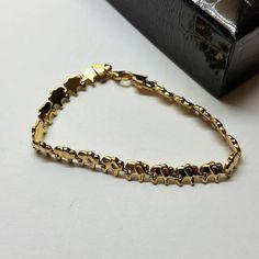 Armband Gliederarmband Elefanten Gold 333 selten rar GA105