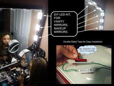 The original Makeup Vanity LED KIT ®  Finally a solution for a professional makeup vanity light  You are viewing an ultra bright LED kit to install around