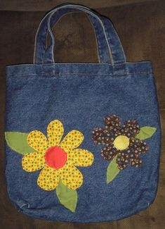 Custom Denim Bag for Jen - This is a custom listing for my friend Jen. I listed this as an example of what I can create if you - Denim Tote Bags, Denim Purse, Denim Shorts, Blue Jean Purses, Bag Pattern Free, Custom Tote Bags, Denim Crafts, Patchwork Bags, Denim Patchwork