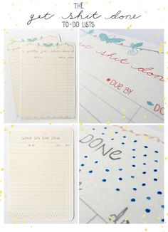 """""""Get Shit Done"""" to-do lists  For sale here http://etsy.me/QjDivg  #stationery"""