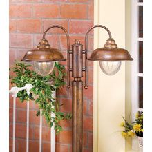 View the Lustrarte 1026/2 Bubbles 2 Light Solid Brass Outdoor Post Light at LightingDirect.com.