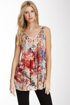 Glowing Temp Embroidered Tank by Sienna Rose on @HauteLook