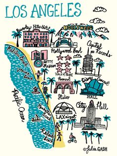 Los Angeles Art Print by Julia Gash | King & McGaw