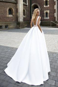 Robe de mariée élégante – Création Robine (dos)