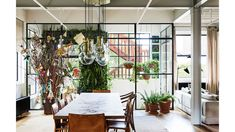 The Design Files: A jaw-dropping apartment in one of Australia's first warehouse conversions Artwork Above Bed, Kids Artwork, Warehouse Living, Warehouse Apartment, Warehouse Conversion, Room With Plants, Automotive Decor, Automotive Furniture, The Design Files