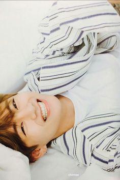 V aka Taehyung smile BTS Summer Package 2017 Source: Twitter @chimtae_D