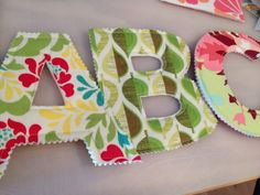 Fabric Alphabet | Handmade in the Heartland: Fabric Alphabet...would make great toys for toddlers learning the alphabet!
