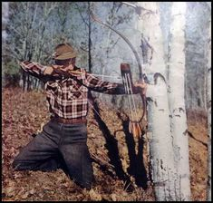 """Fred Bear Photograph 11/"""" x 8 1//2/"""" Reproduction archery"""
