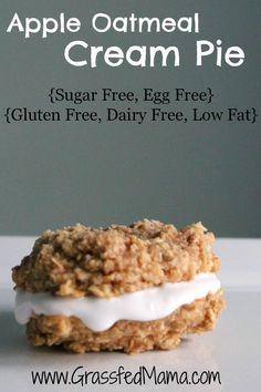 Woot!!!  Sugar, Gluten, Egg & Dairy free & Low fat!  Apple Oatmeal Cream Pies