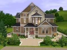 Large family house with 2 floors. Found in TSR Category 'Sims 3 Residential Lots'