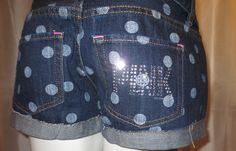 Polka dot PINK shorts.