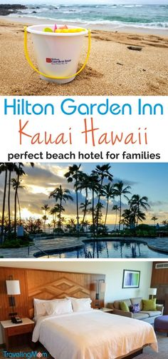 Perfect beachfront hotel for families in Kauai, Hawaii - the Hilton Garden Inn Kauai is clean, inviting, and in a great location for Kauai activities | hotel review | travel destinations