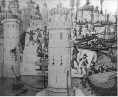 The Siege of Damietta. Autor?? Manuscript?? French manuscript of 1462. Bibliothèque de l'Arsenal Paris, Aquisition No. ?? fol ??
