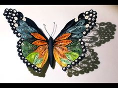 Quilled butterfly - Papillon quilling - Mariposa de Papel - YouTube