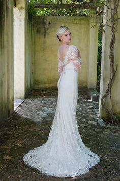 Robyn Roberts Studio offers a unique experience to brides looking for the perfect wedding gown. If you are looking for a dress ready to wear, a custom design or Wedding 2015, Wedding Gowns, Wedding Ideas, Chantilly Lace, Lace Sleeves, Perfect Wedding, Lace Dress, Ready To Wear, Custom Design