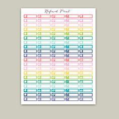 Printable Planner Stickers Erin Condren Planner by RafinadPrint