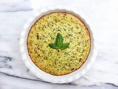 Herbed Zucchini + Ricotta Pie