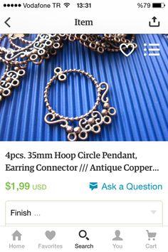#etsy #handmade #jewellery #jewelry #pendant #earring #etsyfind #etsyshop #etsyseller #etsyfinds #handmade #cheap #discount https://www.etsy.com/listing/58883417/4pcs-35mm-hoop-circle-pendant-earring