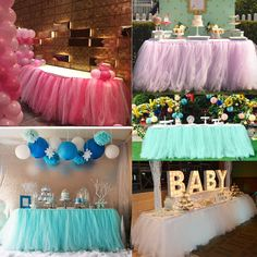 $12.39 AUD - Diy Tulle Table Skirt For Wedding Birthday Baby Shower Christmas Party Ornaments #ebay #Home & Garden