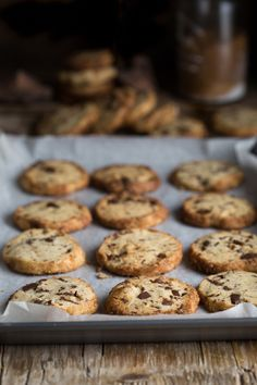 salted butter & choc chip shortbread cookies