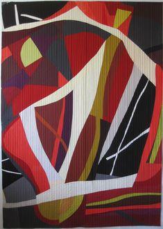 Heather P.'s quilt, Resonance, won Best Art Quilt at Dallas Area Fiber Artists High Fiber Dietfiber art show.