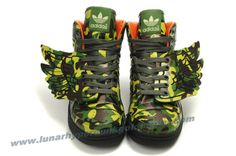 Adidas X Jeremy Scott Wings Dark Camo Shoes Outlet