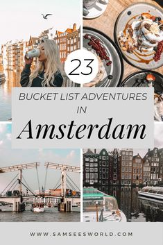 Here are 23 bucket list things to do in Amsterdam, Netherlands. Travel Amsterdam and do all the best things there are so do. #Amsterdam #travel #thingstodo