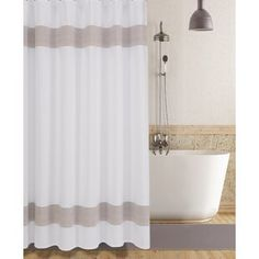 Shower Curtains You'll Love in 2020 | Wayfair Shower Curtain Sizes, Bathroom Shower Curtains, Elegant Shower Curtains, Master Bathroom, Colorful Curtains, Bars For Home, Decoration, Home Gifts, Beige