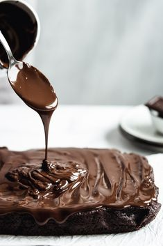 Chocolate Heaven, Chocolate Cake, Sweet Desserts, Dessert Recipes, Brownie Cookies, Low Carb Keto, Brownies, Panna Cotta, Food And Drink