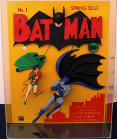 Limited edition of 250 individually numbered, sculpted replicas of the original Batman comic book cover of Spring encased in a clear plexiglass box. Sold only at the Warner Bros.