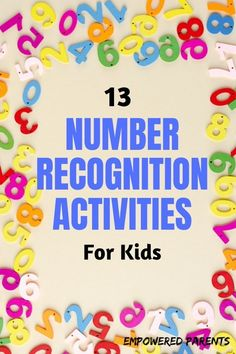 13 Hands-On Number Recognition Games Preschoolers will Love
