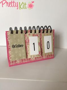 Claudia's Scrap: Tutorial: Calendario Romantico