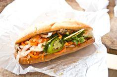 Ga (Roasted Chicken) Bánh Mì Sandwich