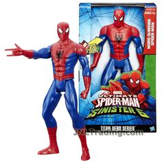 Marvel Year 2015 Ultimate SpiderMan vs The Sinister 6 Series 12 Inch Tall Electronic Figure : WORD-SLINGING SPIDER-MAN with 20 Phrases and Sound Effects