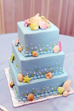 Sea/Beach Themed Wedding Cake