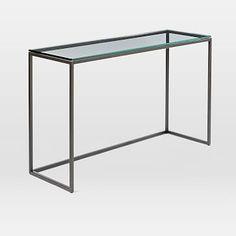 Box Frame Console - Glass/Antique Bronze #westelm