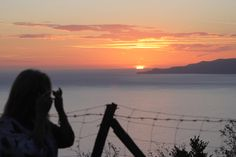 My enjoying capturing our last #sunset at # Maratea. Cecil capturing me. #passions