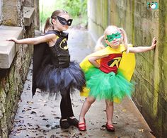 Batman Robin Halloween Tutu Costume Set - can we be this for Halloween instead of broken heart BFF's?