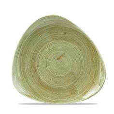 "Churchill Stonecast Patina Burnished Green Triangular Plate 9"""