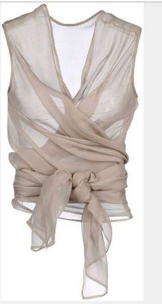 Rebecca Danenberg wrap silk chiffon by luxecouturevintage on Etsy, $77.00: