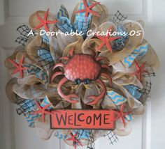 Welcome...Beach Wreath by ADoorableCreations05