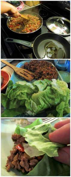 Lettuce Wraps recipe, Easy to make vegetarian too, just replace the ground pork (or chicken) with veggie Crumbles or eggplant. » This is a highly requested meal in my home!