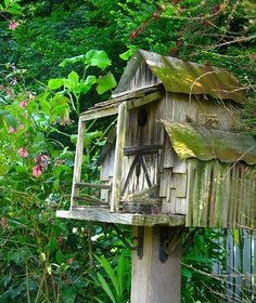 For the bird who prefers an unostentatious dwelling Bird Houses Painted, Bird Houses Diy, Building Bird Houses, Country Cottage Garden, Butterfly House, Garden Yard Ideas, House Painting, Birds, David Wells