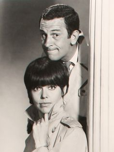 "Don Adams as secret agent Maxwell Smart and Barbara Felden as Agent 99 in ""Get Smart,"" (1965-70). Created by Mel Brooks and Buck Henry also starred Ed Platt as the Chief, Robert Karvelas as Larabee and Bernie Kopell as Siegfried."