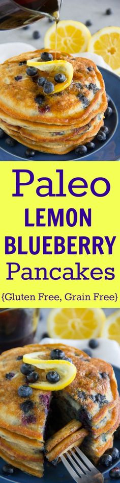 Paleo - These tasty Paleo Lemon Blueberry Pancakes are gluten free, grain free, dairy free and sure to please even the finickiest eater! - It's The Best Selling Book For Getting Started With Paleo Breakfast And Brunch, Paleo Breakfast, Breakfast Recipes, Breakfast Bake, Breakfast Ideas, Grain Free, Dairy Free, Nut Free, Lemon Blueberry Pancakes