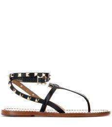 Valentino - Rockstud Double leather sandals - mytheresa.com