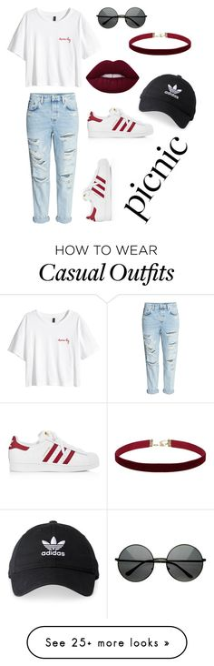 """Casual picnic"" by cocochloe224 on Polyvore featuring H&M and adidas"