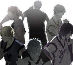 Kiseki no Sedai / Generation of Miracles - Kuroko no Basket / Kuroko no Basuke - Murasakibara Atsushi, Aomine Daiki, Kuroko Tetsuya, Midorima Shintaro, Kise Ryota, Akashi Seijuro