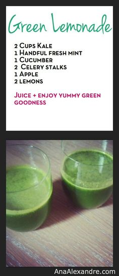 Green Lemonade #Recipe - #greenjuice