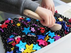 Star Color Matching & Sensory Tub - I like the star idea, but these items would be too small for our littles.  Have to think of something bigger and durable for chewing...